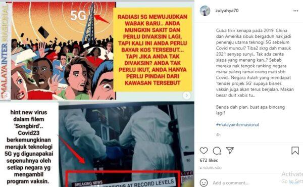 """Era 5G: Pembawa virus tahun 2023""""- Zul Yahya dakwa golongan divaksin pembawa virus"""